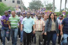 René Polanco aboga por la unidad del PLD en Santo Domingo Norte; recorre Guaricanos