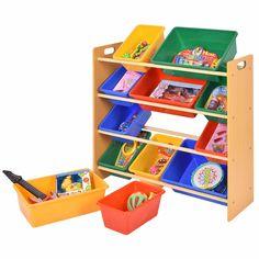 Toy Bin Organizer Kids Childrens Storage Box Playroom Bedroom Shelf Drawer  HW51341