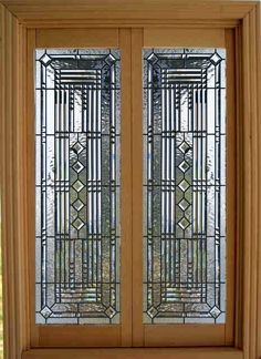 Dollhouse Miniature 1:12 Scale Artisan Leaded Glass French Doors. $85.00, via Etsy.