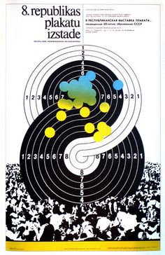 Gunars Lusis, 8. Latvian Poster Exhibition to Mark the Sixtieth Anniversary of the Formation of the USSR, 1982