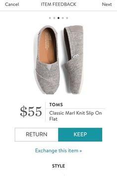 TOMS Classic Marl Knit Slip On Flat from Stitch Fix. https://www.stitchfix.com/referral/4292370