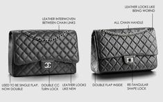 41806220ac96 What Is The Difference Between Chanel Classic Flap Bag And Chanel Classic  2.55 Reissue