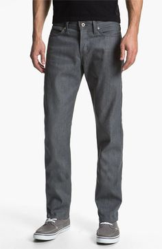 Naked+&+Famous+Denim+'Weird+Guy'+Slim+Fit+Selvedge+Jeans+(Grey)+available+at+#Nordstrom
