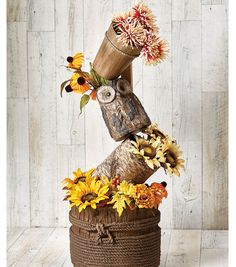 Owl Basket Decor