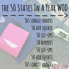 the 50 states in a year WOD