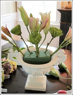 Learn how to arrange real flowers.  Step by step tutorial!