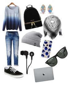 Untitled #11 by caitycheer on Polyvore featuring polyvore, moda, style, Vans, MICHAEL Michael Kors, WWAKE, BeckSöndergaard, The North Face, Ray-Ban, Sonix, Skullcandy, fashion and clothing