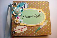 Nurses Rock Scrapbook Pocket Page Mini Album by ljbminis2021