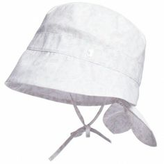Dior Baby Girls White Floral Cotton Sun Hat | CHILDRENSALON