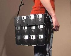 Let the Old Tote Around the New With the Floppy Disk Laptop Bag #fashion #DIY