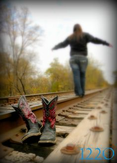 railroadtracks Senior Picture Ideas for Girls-But with her Converse instead of boots.