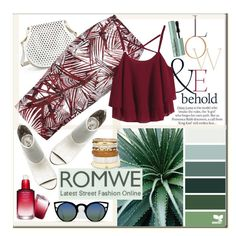 """""""Win chiffon top from ROMWE"""" by katiesdelight ❤ liked on Polyvore featuring ASOS, Cynthia Rowley, Glamorous, SkinCare, Circus By Sam Edelman, Chico's and Too Faced Cosmetics"""