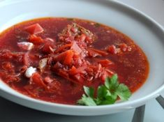 orosz-borscs-leves Caviar, Thai Red Curry, Chili, Tasty, Ethnic Recipes, Food, Marmalade, Cold Dips, Chile