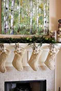 stockings made from old sweaters (photo only)