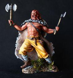 Viking Warrior Eric the Red Tin Toy soldier 75 mm., figurine, metal sculpture. #SpbdollsSpbsouvenir