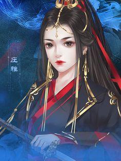 Creative Pictures, Fantasy Art Women, Portrait Artist, Beautiful Fantasy Art, Art Girl, Manga Collection, Chinese Art, Asian Style Art, Chinese Drawings