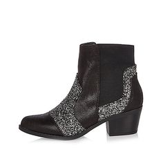 Black glitter Western boots - boots - shoes / boots - women
