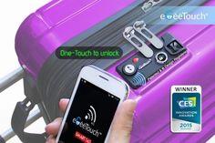 Cadeado inteligente permite destravar bagagens com o smartphone.