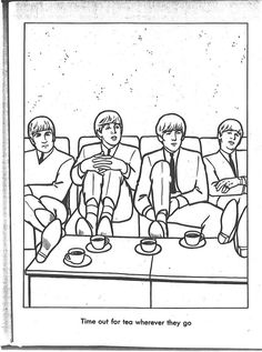 35 best Beatles Coloring Book images on Pinterest | The Beatles, The ...