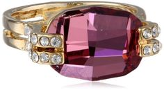 "Oroclone ""Crystal Luxe"" Gold Plated Cushion Cut Antique Pink Swarovski Stone Ring, Size 7 Oroclone http://www.amazon.com/dp/B00FS6XZK8/ref=cm_sw_r_pi_dp_yWXEvb1BBS1A9"