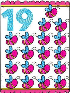 Tarjetas para trabajar los números del 1 al 20 Numbers Kindergarten, Numbers Preschool, Alphabet Activities, Preschool Activities, School Colors, Classroom Decor, Ladybug, Homeschool, Math