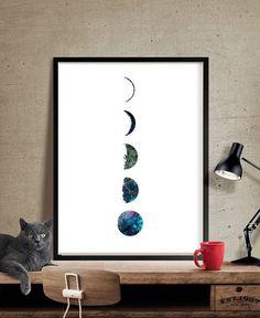 Galaxy Moon Phase Kunstdruck, Aquarell-Mond, Mond Poster Kunstdruck, Aquarell-Malerei, Aquarell Kunst, Home Decor, Wand-Dekor - Art, Wall Art, Home Decor, Art Print, Plakat, Illustration, Zeichnung, Malerei, Aquarell, Artwork, FineArtCenter ------------------------------------------------------------------------------------------------ Verfügbare Größen sind ein Dropdown-Menü oben die Schaltfläche ADD TO CART Größe auswählen angezeigt…