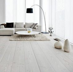 Light hardwood floors are timeless in interior design. Most often light flooring is used to create modern minimalist or modernist interior concepts. Ash Flooring, Grey Hardwood Floors, White Wood Floors, Engineered Wood Floors, Flooring Options, Flooring Ideas, Laminate Flooring, Pine Floors, Vinyl Flooring