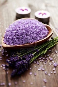 Aromatherapy Lavender Bath Salts  Would be great to soak in a tub full of this and then smooth some C-Annie's handmade lotion on! Www.c-annies.com