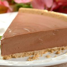 Skinny No-Bake Chocolate Nesquik Cheesecake | Meals.com - Skinny No-Bake Chocolate Nesquik Cheesecake is so easy to make. Just a few ingredients and you have an elegant dessert.