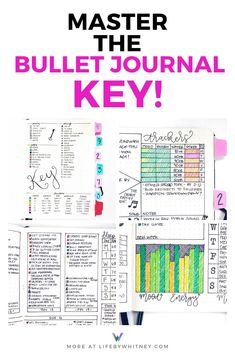 Conquer the bullet journal and the bujo key with symbols, colors, and shapes that you'll use and remember. I explain everything in this mega key guide to get you started in your journal on the right track! Monthly Bullet Journal Layout, Daily Bullet Journal, Bullet Journal Titles, Bullet Journal For Beginners, Creating A Bullet Journal, Bullet Journal Tracker, Bullet Journal Hacks, Bullet Journal Printables, Bullet Journal How To Start A