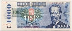 Czechoslovakia 1000 Korun for sale online Coins, Stamp, Baseball Cards, Personalized Items, Ebay, European Countries, Czech Republic, Bench Seat, Rooms
