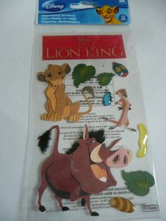 Disney's THE LION KING - Birthday Boy, Jungle Animals, King - Scrapbooking layout ideas! Jolee's Boutiue 3d Stickers by ExpressionsofFaith, $3.25