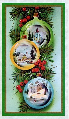 Special Bonus Vintage Christmas Card from the early Christmas Icons, Vintage Christmas Cards, Retro Christmas, Vintage Holiday, Christmas Greeting Cards, Christmas Pictures, Christmas Art, Christmas Greetings, Vintage Cards