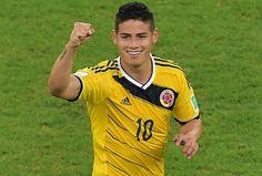 James Rodríguez foi artilheiro da Copa com seis gols, mas foi além. Antes do torneio, quando se falava da Colômbia, o tema quase sempre era a ausência do centroavante contundido Falcao García. Sem ele, James ajudou o time a chegar pela primeira vez às quartas de finais.15/07/2014.