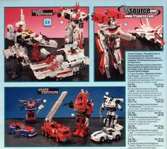 Transformers toys in old Argos catalogue