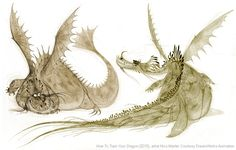 acmidreamworks:Speaking of dragons, how about this concept art for the original dreamworksanimation How To Train Your Dragon by artofnicomarlet?