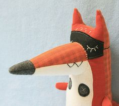 Leendert the little red fox by Stitched Creatures