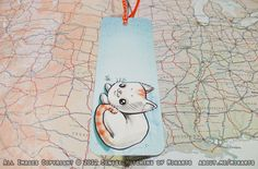 Adorable Chibi Orange Tabby Kitty Cat Bookmark. $5.00, via Etsy.