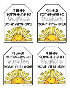 Free First Day of School Gift Tag - Lehrer Back To School Teacher, 1st Day Of School, Beginning Of The School Year, Back To School Gifts For Kids, Teacher Gift Tags, Teacher Treats, School Treats, Employee Appreciation Gifts, Teacher Appreciation Week