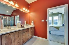 Traditional Master Bathroom with Flat panel cabinets, Undermount Sink, Flush…
