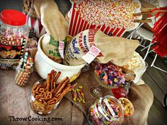 Popcorn, Peanuts and Candy Station! Peanuts, Candy Stations, Cooking, Popcorn, Recipes, Party Ideas, Food, Wedding, Kitchen