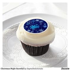 Christmas Night Snowfall Edible Frosting Rounds
