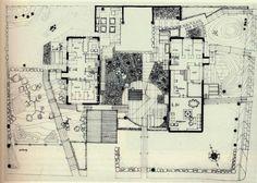 Villa Erskine, Drottningholm, Sweden. 1963 Ralph Erskine 1914-2005