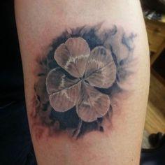 Tattoo Shamrock Motif   #Tattoo, #Tattooed, #Tattoos