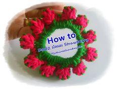 How to D004 Crochet รัดผมโครเชต์ กุหลาบ _ Mathineehandmade - YouTube