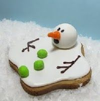 melted snowman cookies. hahaha, Calvinesque snowmen gain a new level of meaning with every bite ;-)