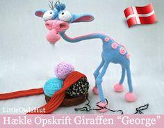 005Dk Giraffen George Amigurumi Hækle Opskrift by LittleOwlsHutDK