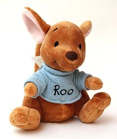 Roo Plush Toy - - Mini Bean Bag Official Disney Plush Roo from Winnie The  Pooh Tall Detailed stitching Soft fleece shirt with embroidered   Roo    lettering 694b768ea
