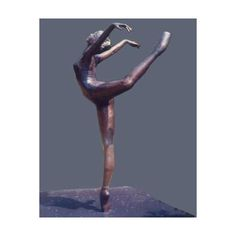 Sculpture desires ❤ liked on Polyvore featuring home, home decor, bronze sculpture, ballerina statue, bronze ballerina statue, bronze home decor and bronze statue