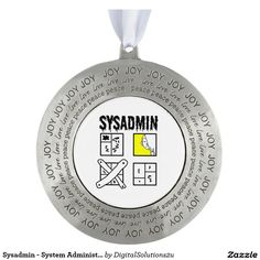 Sysadmin - System Administrator Round Pewter Christmas Ornament